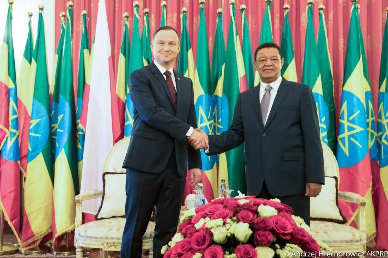 Prezydenci Duda i Teshome: zwiększyć wymianę handlową między Polską a Etiopią - GospodarkaMorska.pl