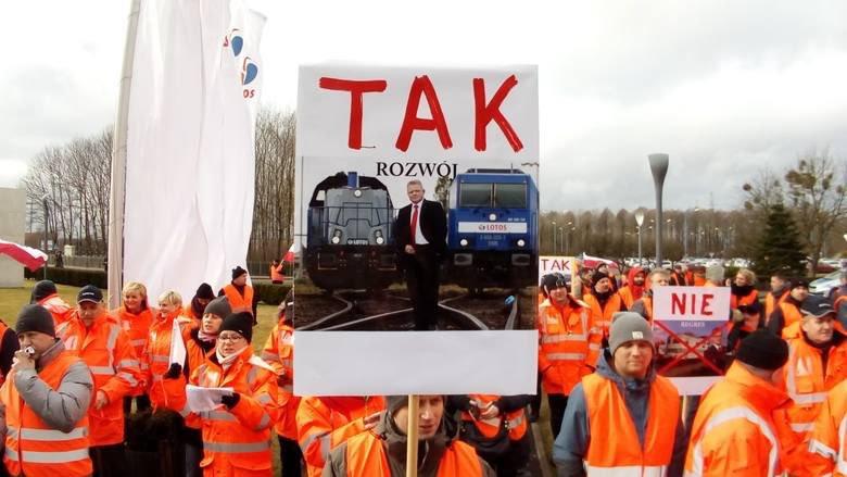 W Lotos Kolej kilkugodzinna akcja protestacyjna - GospodarkaMorska.pl