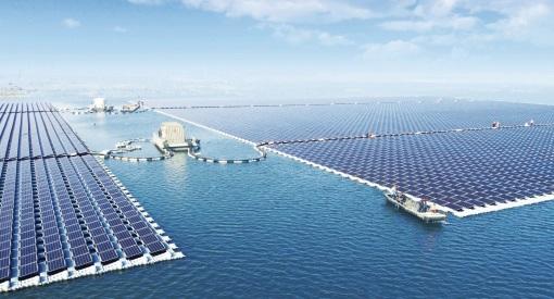 Największa pływająca farma PV powstała w Chinach - GospodarkaMorska.pl