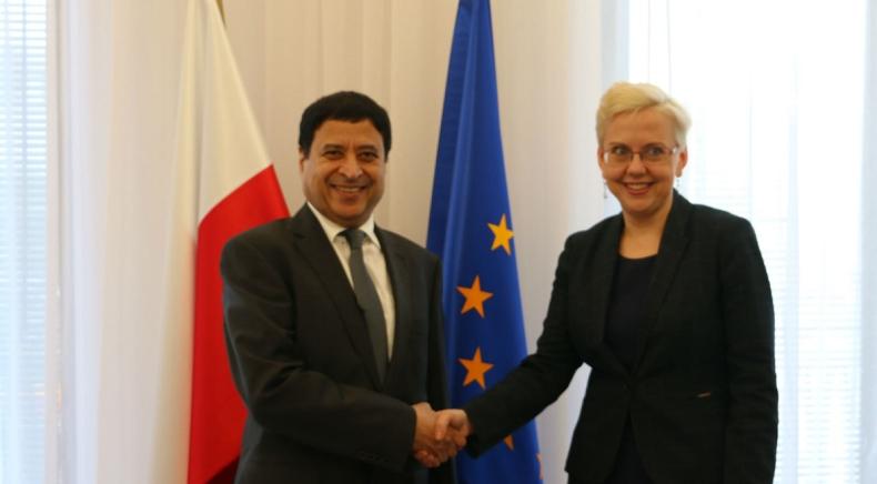 Anna Moskwa spotkała się z ambasadorem Kataru w Polsce - GospodarkaMorska.pl