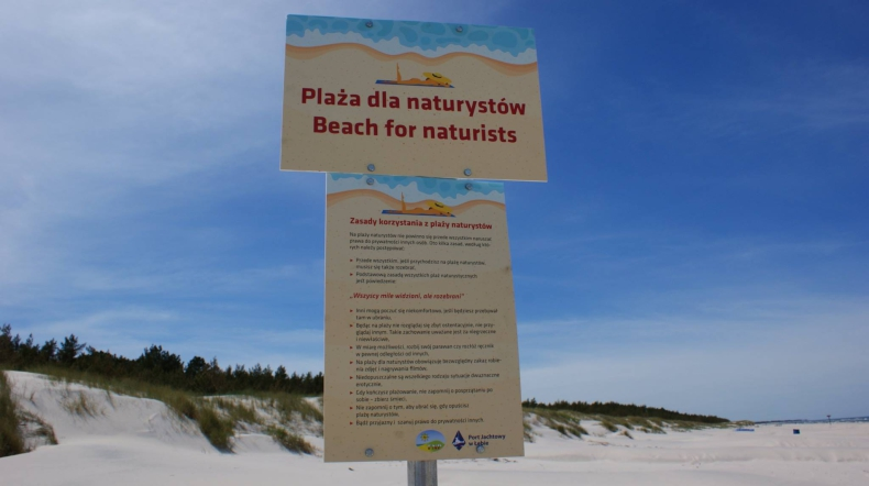 W Łebie powstała oficjalna plaża dla naturystów - GospodarkaMorska.pl
