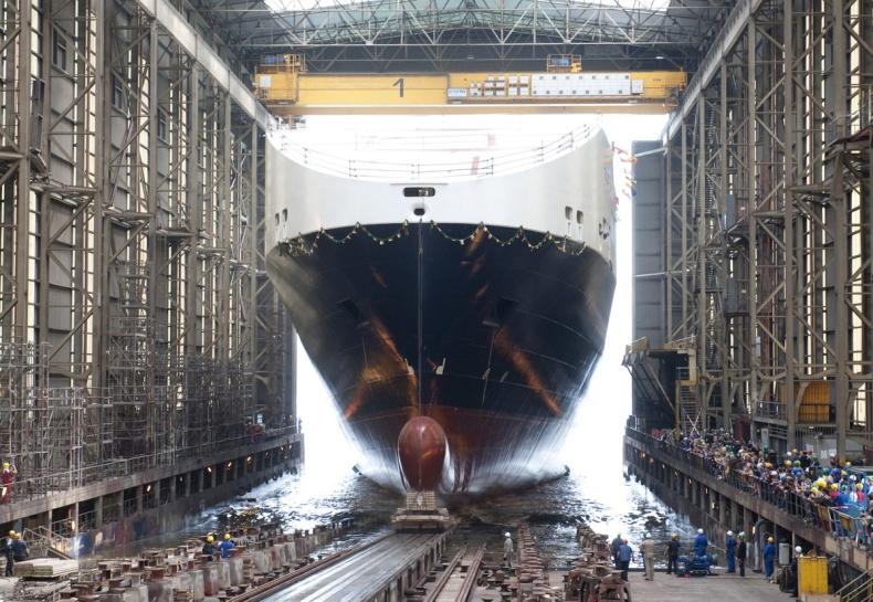 Tulipa Seaways, drugi z nowych statków dla DFDS, zwodowany - GospodarkaMorska.pl