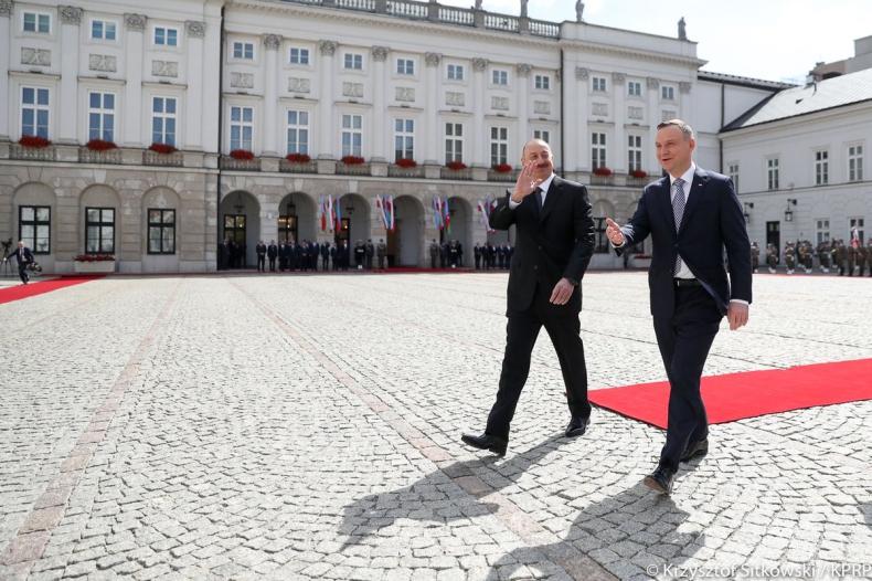 Rozpoczęła się wizyta prezydenta Azerbejdżanu - GospodarkaMorska.pl