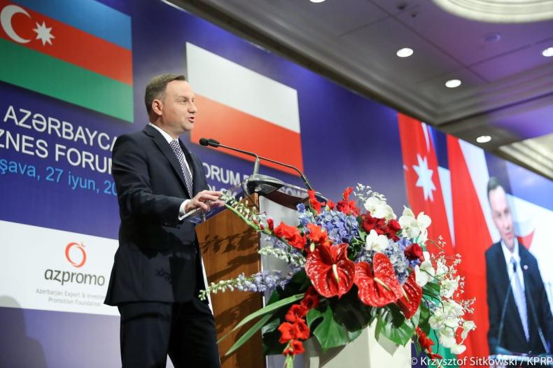 Duda: W relacjach z Azerbejdżanem drzemie niewykorzystany potencjał - GospodarkaMorska.pl