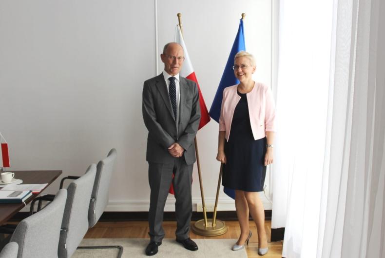 Ambasador Królestwa Danii z wizytą w MGMiŻŚ - GospodarkaMorska.pl