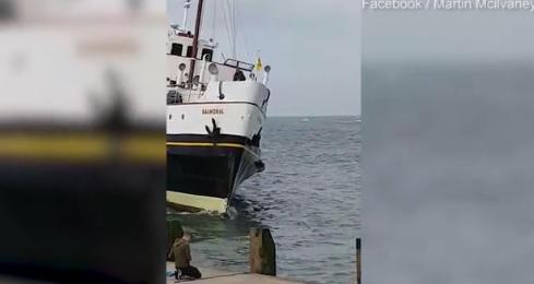 700-tonowy statek pasażerski wpłynął wprost w nabrzeże (wideo) - GospodarkaMorska.pl