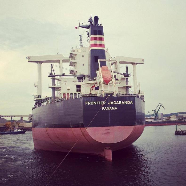 Frontier Jacaranda – największy statek, jaki kiedykolwiek zawinął do MTMG - GospodarkaMorska.pl