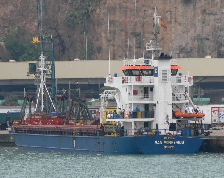 Statek San Porfyrios aresztowany za zawijanie do krymskich portów - GospodarkaMorska.pl
