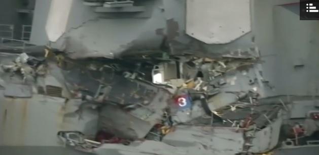 Nie ma śladów wycieku paliwa po kolizji okrętu USA z liberyjskim tankowcem - GospodarkaMorska.pl