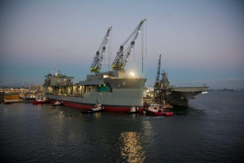 W Ameryce zwodowany drugi statek – bazę morską - GospodarkaMorska.pl