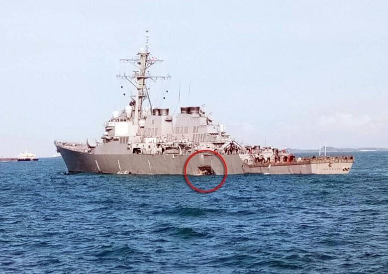 USA wstrzymały poszukiwania w miejscu kolizji swego niszczyciela - GospodarkaMorska.pl