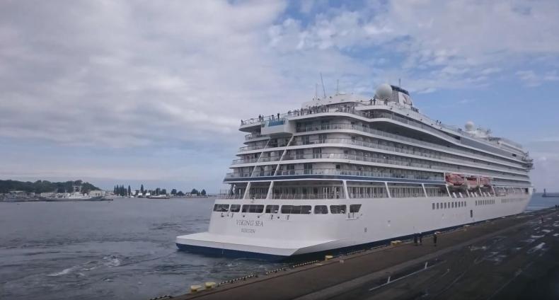 Ponad 200-metrowy Viking Sea w Gdyni (wideo) - GospodarkaMorska.pl