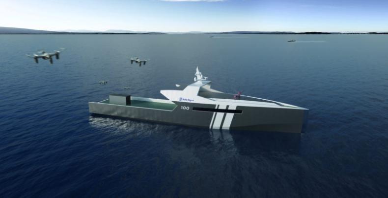 Rolls-Royce przedstawił swój projekt bezzałogowego statku - GospodarkaMorska.pl