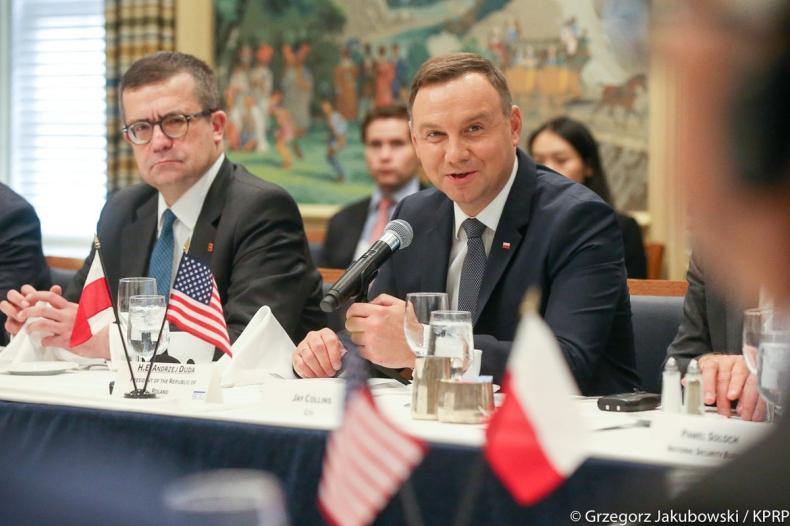 USA: Prezydent Duda zachęcał do inwestowania w polską infrastrukturę i region Trójmorza - GospodarkaMorska.pl