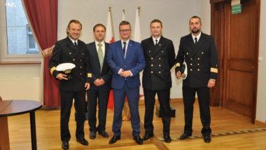 Wiceminister Grzegorz Witkowski z wizytą w Urzędzie Morskim w Szczecinie - GospodarkaMorska.pl