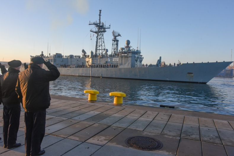 Fregata ORP Gen. K. Pułaski wraca do kraju - GospodarkaMorska.pl