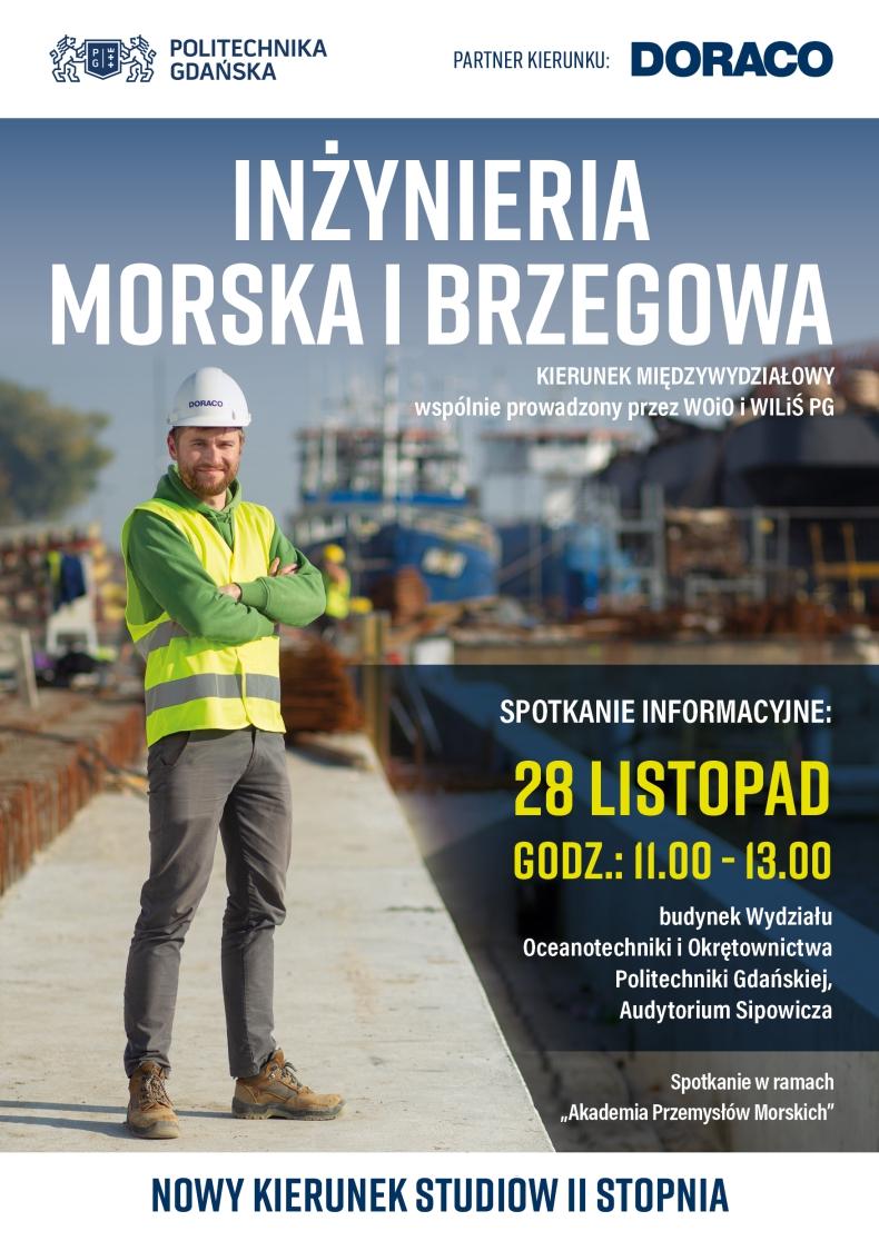 Inżynieria Morska i Brzegowa – nowy kierunek kształcenia na Politechnice Gdańskiej pod patronatem DORACO - GospodarkaMorska.pl
