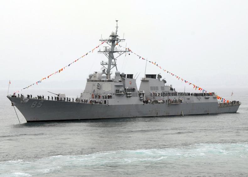 Niszczyciel USA na Morzu Japońskim w ramach ochrony swobody żeglugi - GospodarkaMorska.pl