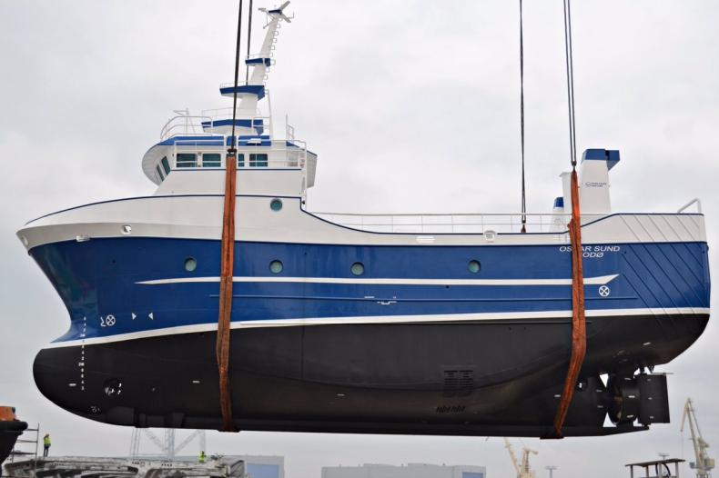 W Stoczni Szczecińskiej zwodowano statek rybacki - GospodarkaMorska.pl