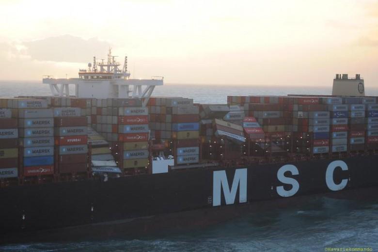 Szacowana ilość zgubionych przez MSC Zoe kontenerów wzrosła do 345 - GospodarkaMorska.pl