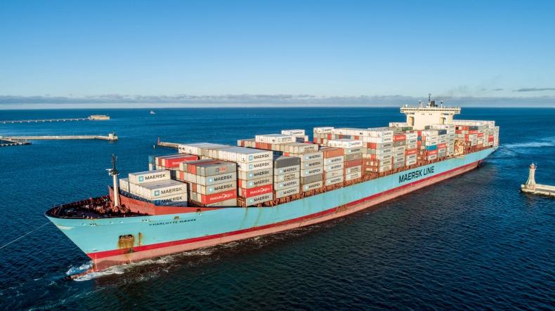 Do Gdyni przypłynął Charlotte Maersk, najdłuższy kontenerowiec w historii gdyńskiego portu (foto, wideo) - GospodarkaMorska.pl