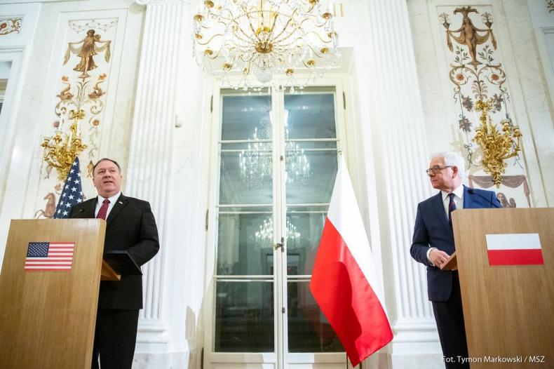 Czaputowicz i Pompeo: Mamy zbieżne interesy bezpieczeństwa; USA wspierają Europę Środkowo-Wschodnią - GospodarkaMorska.pl