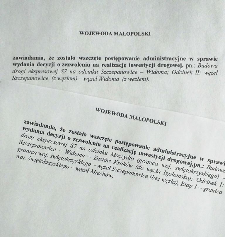 Wojewoda małopolski wszczął postępowanie ws. ZRID dla dwóch odcinków S7 - GospodarkaMorska.pl