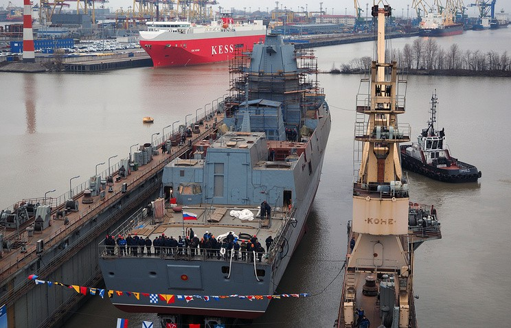 Nowoczesna rosyjska fregata rozpoczęła próby morskie - GospodarkaMorska.pl