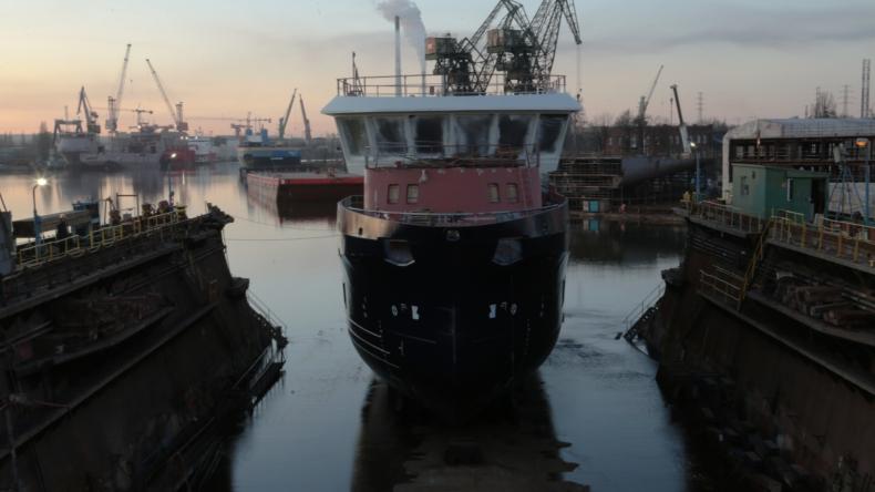 W gdańskiej stoczni Safe zwodowano statek dla Norwegów (foto, wideo) - GospodarkaMorska.pl