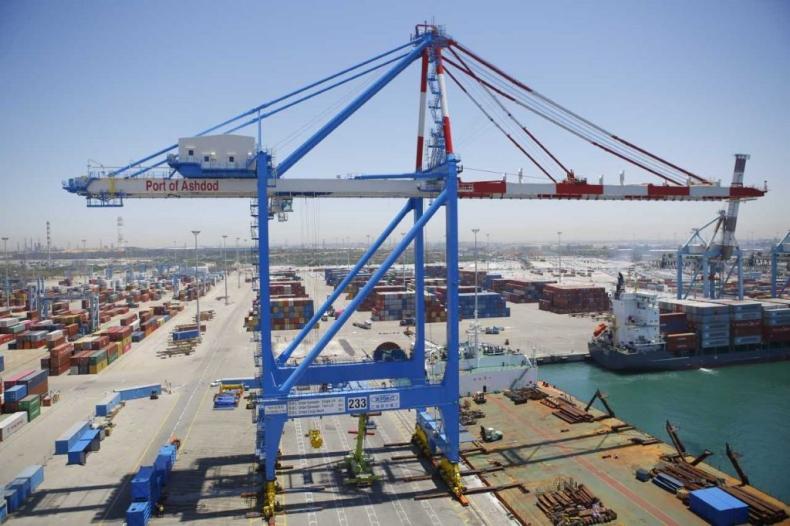 Największa izraelska suwnica STS dotarła do portu Aszdod - GospodarkaMorska.pl