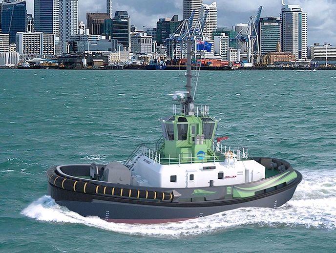 Auckland zamówiło pierwszy na świecie elektryczny holownik (wideo) - GospodarkaMorska.pl