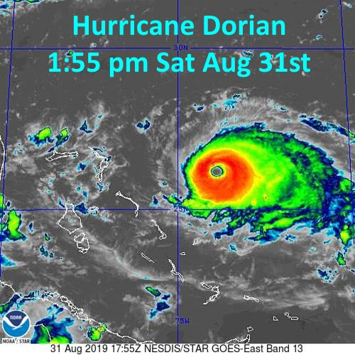 Główne uderzenie huraganu Dorian może ominąć Florydę - GospodarkaMorska.pl