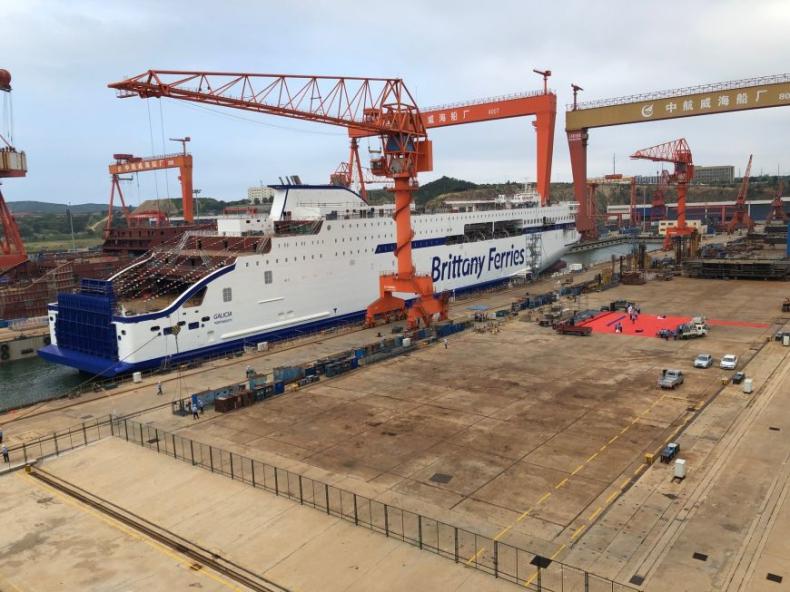 Nowoczesne promy dla Brittany Ferries coraz bliżej. Dwie ważne uroczystości w stoczni AVIC - GospodarkaMorska.pl