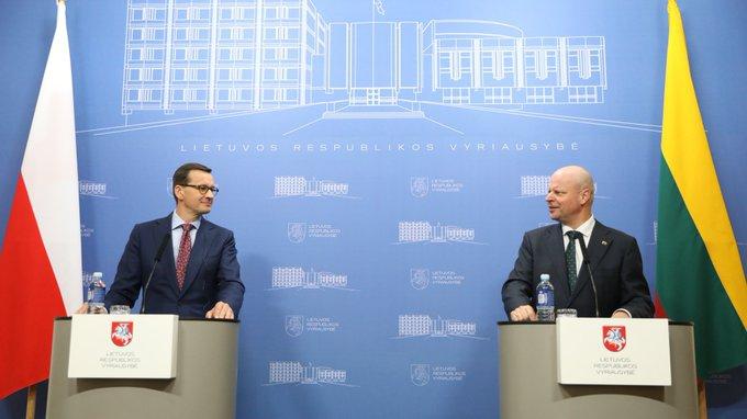 Morawiecki: Z premierem Litwy rozmawialiśmy o bezpieczeństwie energetycznym - GospodarkaMorska.pl
