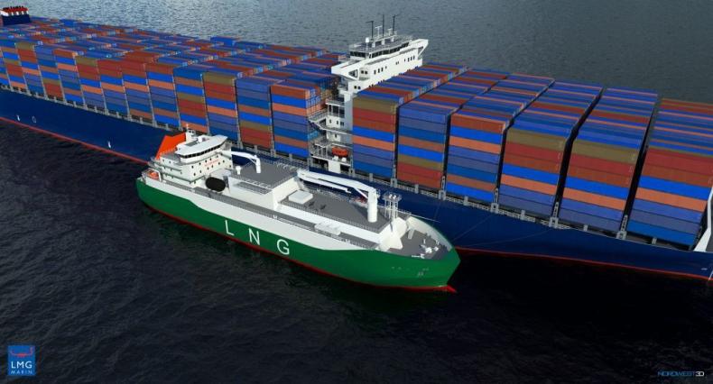 Cięcie stali pod największą bunkierkę LNG Singapuru - GospodarkaMorska.pl