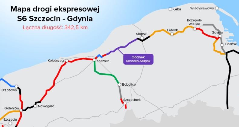 Zachodniopomorskie: Otwarto drogę ekspresową S6 na odcinku Kołobrzeg-Koszalin - GospodarkaMorska.pl