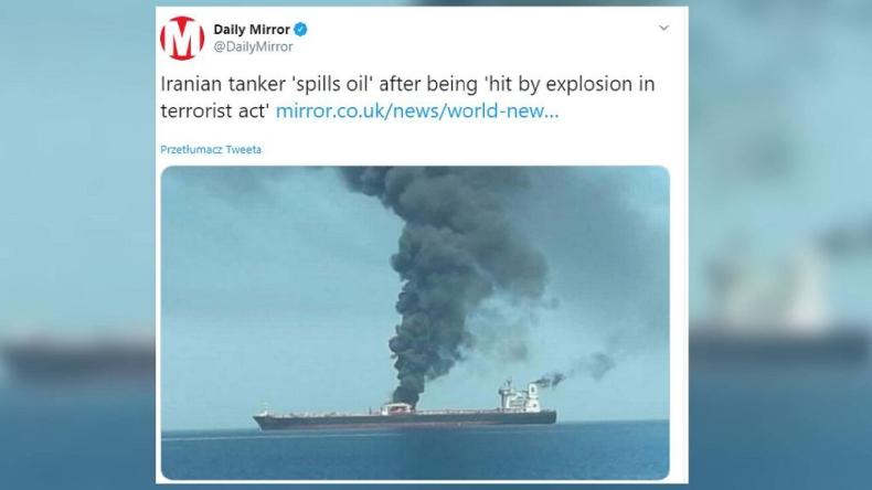 Eksplozja na irańskim tankowcu u wybrzeży Arabii Saudyjskiej - GospodarkaMorska.pl