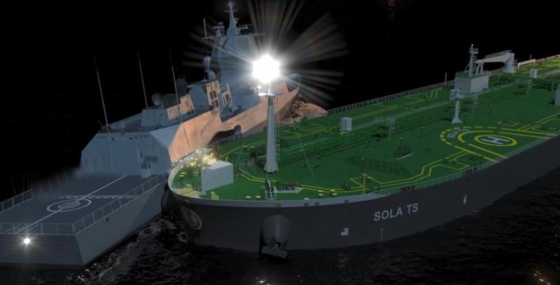 Animacja zderzenia fregaty KNM Helge Ingstad z tankowcem (wideo) - GospodarkaMorska.pl