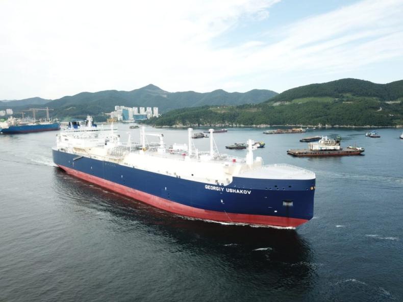 Piąty gazowiec LNG klasy lodowej dostarczony armatorowi Teekay - GospodarkaMorska.pl