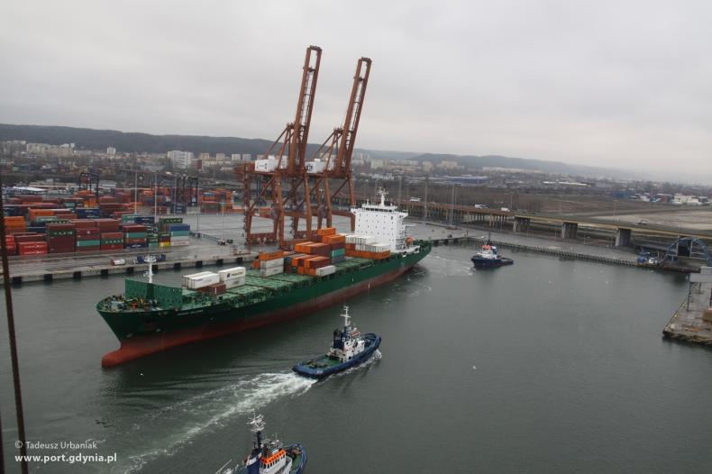 Pierwszy statek przy nowym Nabrzeżu Bułgarskim - GospodarkaMorska.pl