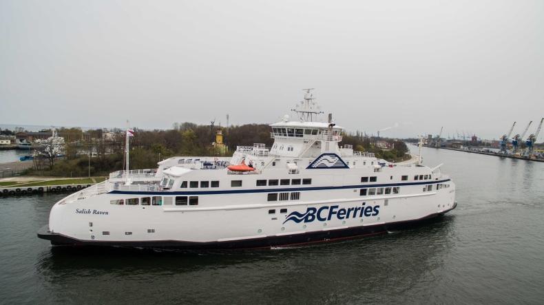 Ekologiczny prom zbudowany w Remontowa Shipbuilding wypłynął z Gdańska do Kanady - GospodarkaMorska.pl