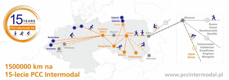1500000 km na 15 urodziny PCC Intermodal! - GospodarkaMorska.pl