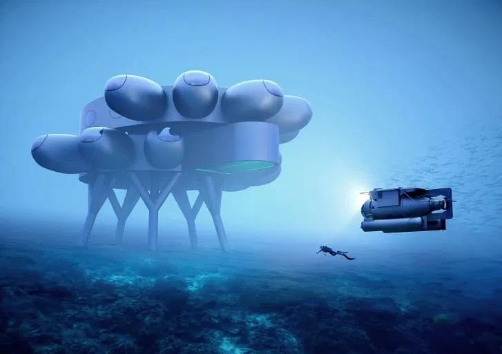 """Podwodna stacja badawcza """"Proteus"""" Fabiena Cousteau. Wygląda obłędnie! - GospodarkaMorska.pl"""