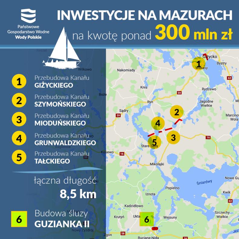 Rozpoczyna się remont Kanałów na szlaku Wielkich Jezior Mazurskich  - GospodarkaMorska.pl