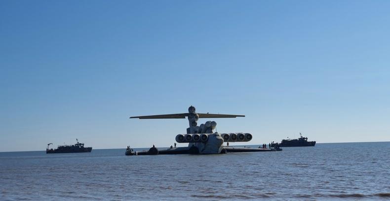 Kaspijski Potwór Morski przechodzi na emeryturę - radziecki ekranoplan trafi do wojskowego muzeum [wideo] - GospodarkaMorska.pl