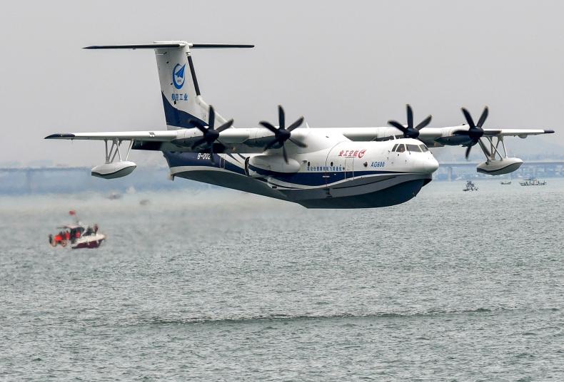 Największa na świecie latająca łódź - samolot morski AG600 pozytywnie przeszedł testy - GospodarkaMorska.pl