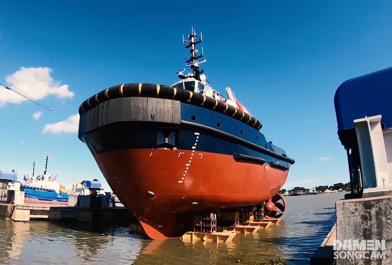 Damen zwodował dwa ekologiczne holowniki dla Portu Zeebrugge - GospodarkaMorska.pl