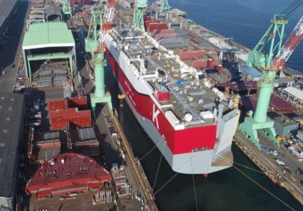Zwodowano napędzany LNG samochodowiec dla japońskiego armatora - GospodarkaMorska.pl