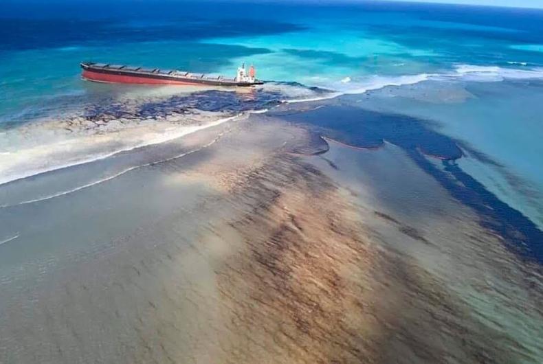 Wyciek paliwa na Mauritiusie: jak wpłynie na rafy koralowe, namorzyny i trawy morskie? - GospodarkaMorska.pl