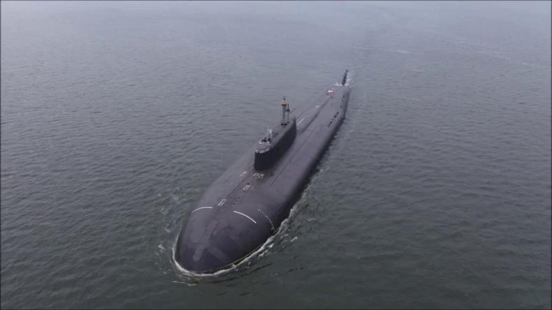 Rosyjski okręt podwodny u wybrzeży Alaski - GospodarkaMorska.pl